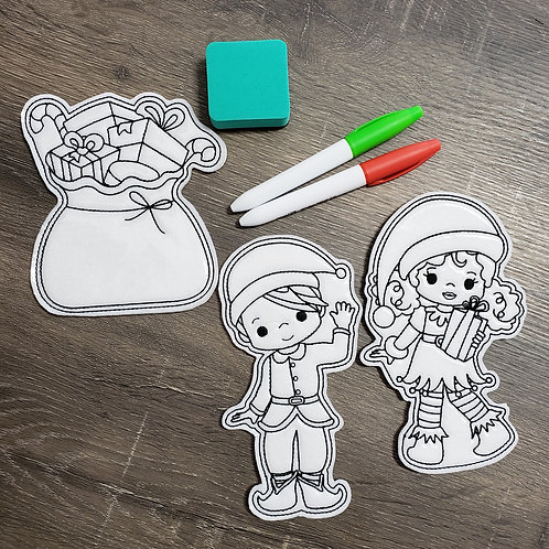 Elf Flat Coloring Dolls