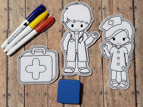 Doctor Flat Coloring Dolls