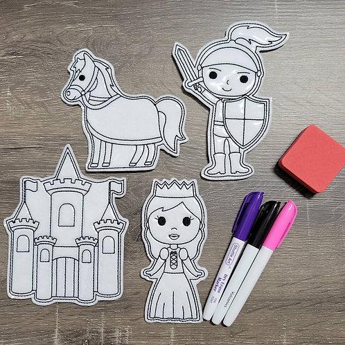 Castle Flat Coloring Dolls