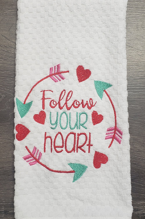 Follow your Heart Hand Towel