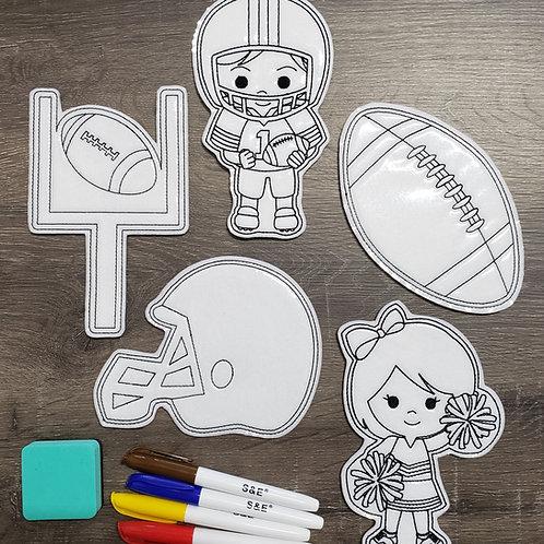 Football Flat Coloring Dolls