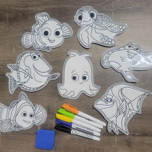 Nemo Flat Coloring Dolls