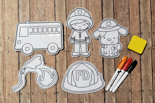 Fire5 Flat Coloring Dolls