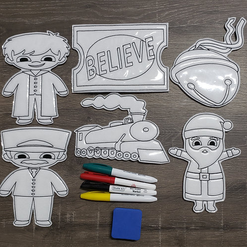 Believe Flat Coloring Dolls