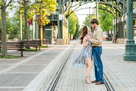 downtown memphis engagement photography