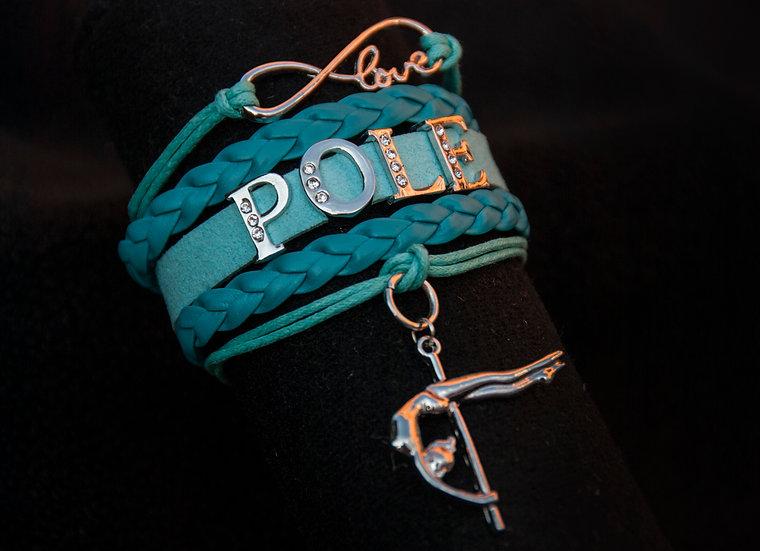 Mint Pole Dance Bracelet