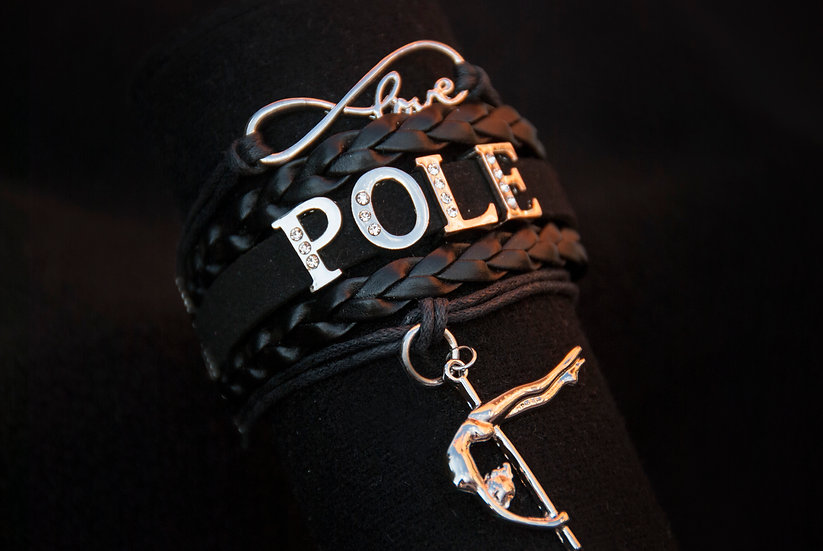 Black Pole Dance Bracelet