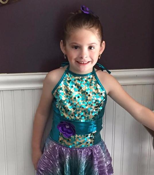 Jillian all ready for her recital!