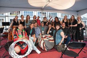 Cris Derkson's Orchestral Powwow with the Chippewa Travelers and Allegra Chamber Orchestra, Queer Art's Festival, 2017.