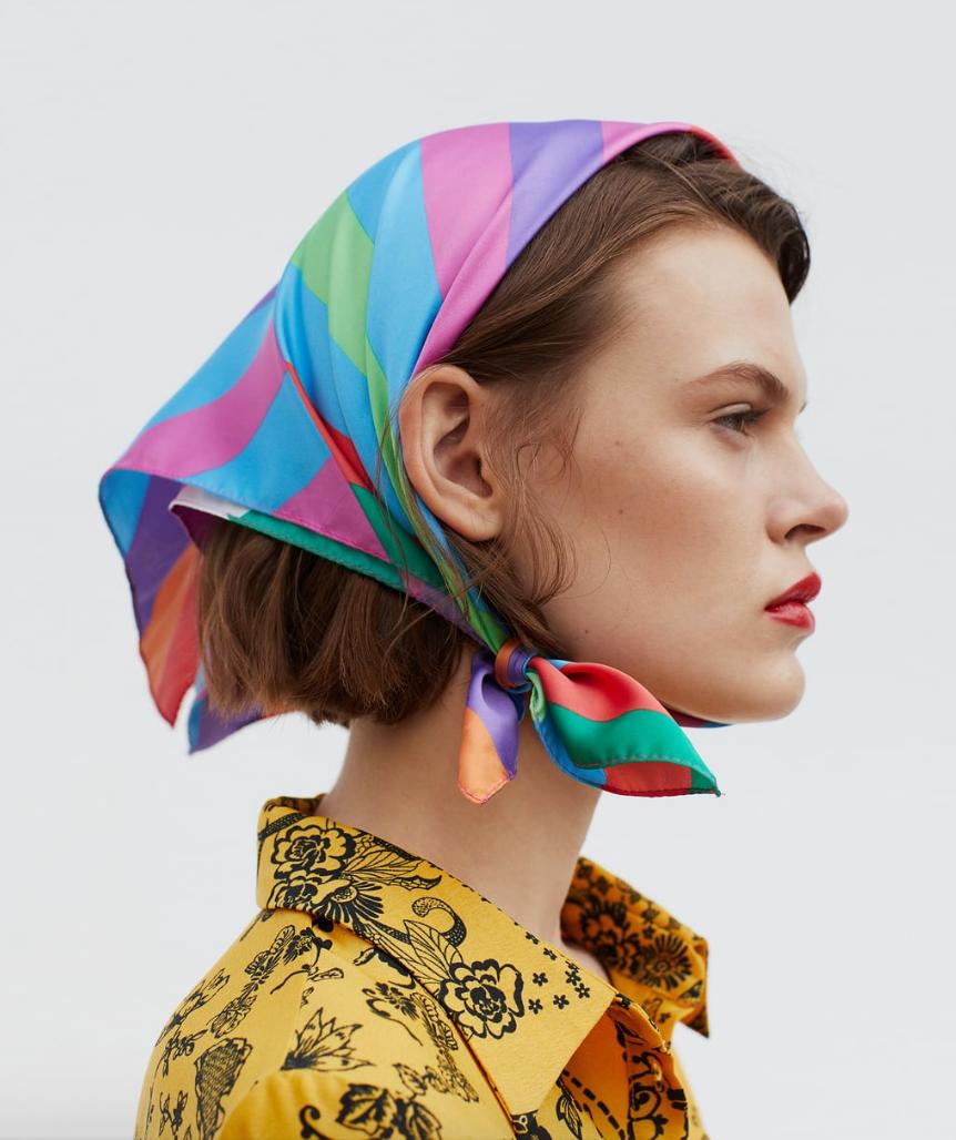 Zara | Foulard à rayures
