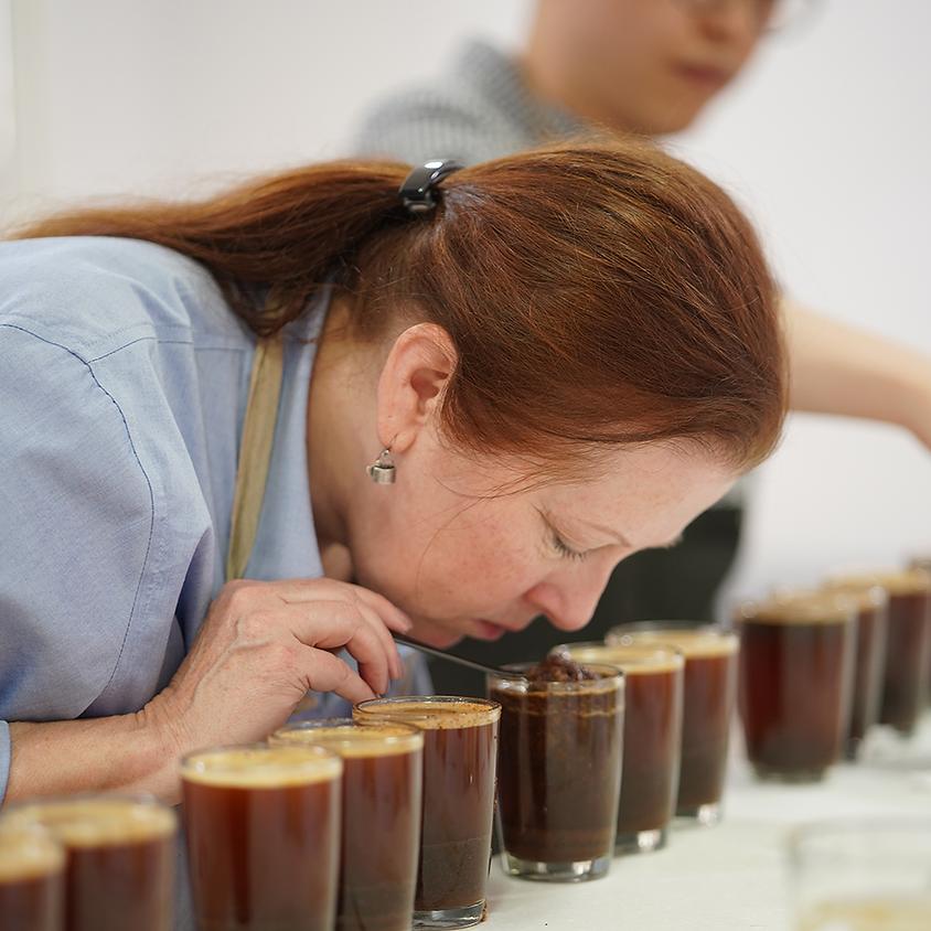 Araku coffee cupping ritual with Sherri Johns