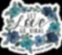 LET LOVE GO VIRAL sticker floral.webp