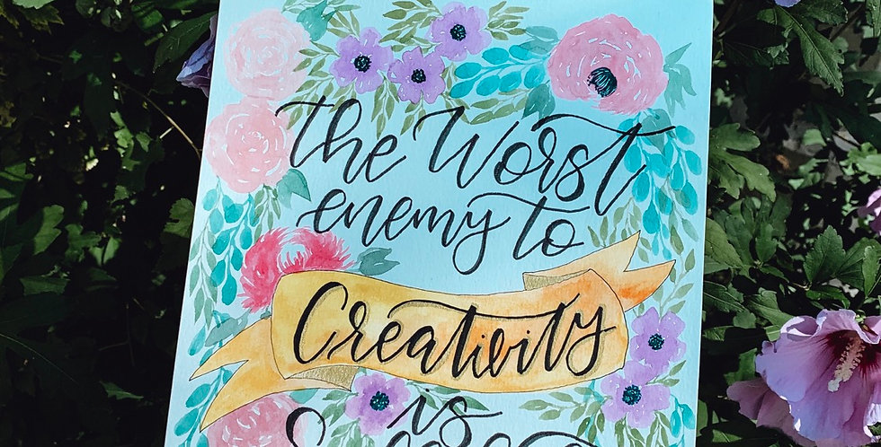 The Worst enemy to Creativity is Self Doubt - Brené Brown
