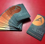Cartão com Hotstamp