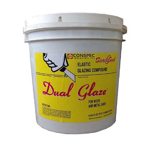 Sarco Dual Glaze Elastic Glazing Compound - 5-gallon