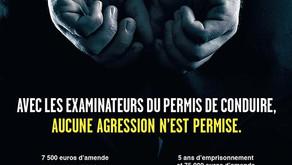 Sanctions en cas d'agression d'un examinateur