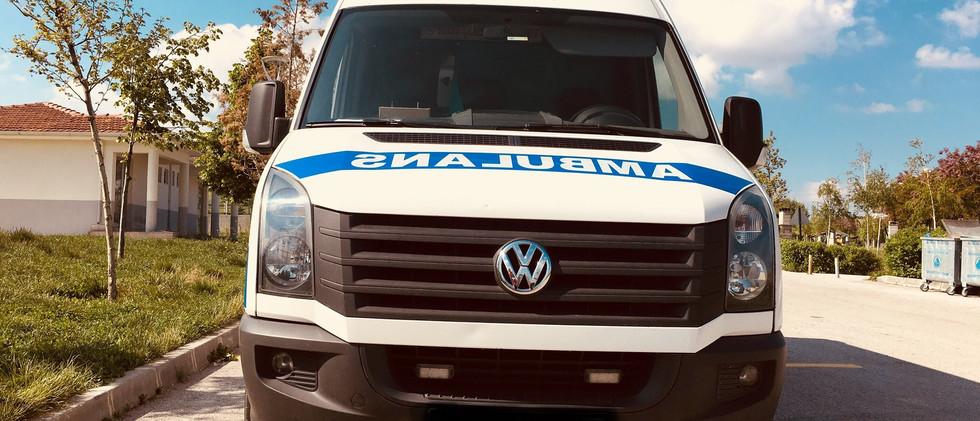 kiralama hizmeti veren ambulans