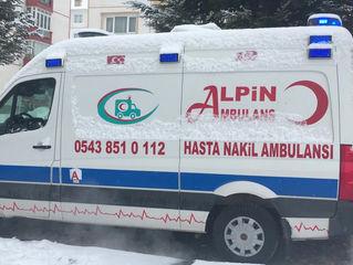 Zorlu Kış Şartlarında Özel Ambulans