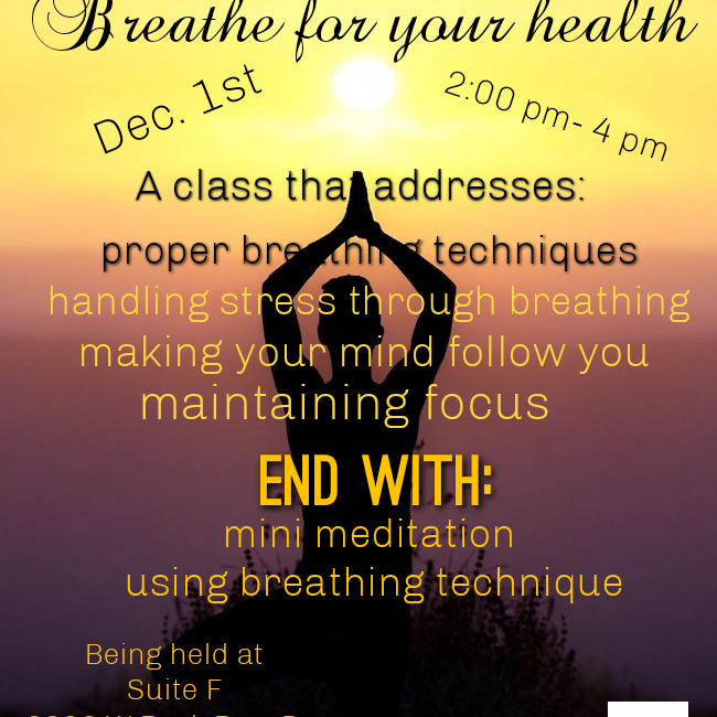 Breathe for Your Health