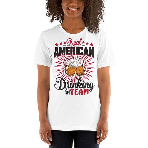 Real American Drinking Team - Unisex Tee White