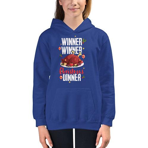Winner Winner Christmas Dinner - Kids Unisex Hoodie