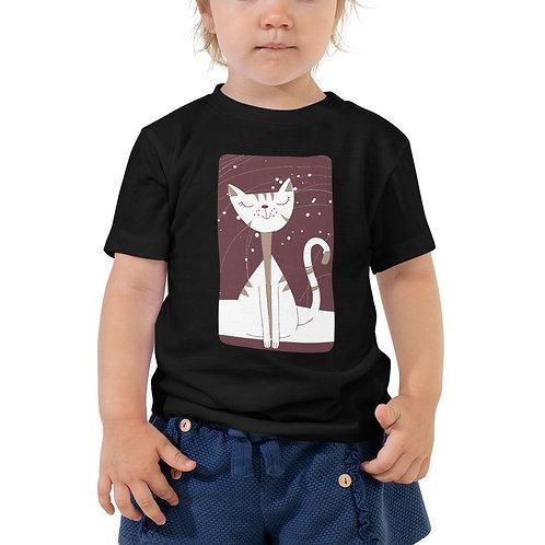 Toddler Cat Print Unisex Tee