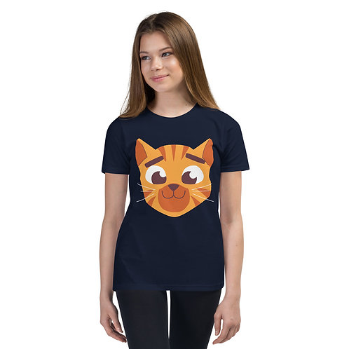 Cute Cat Face Unisex Kids Tee