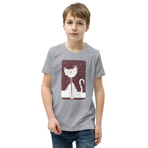 Cat Print Unisex Kids Tee