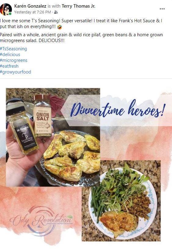 T's Seasoning teamed up with Onion Salt