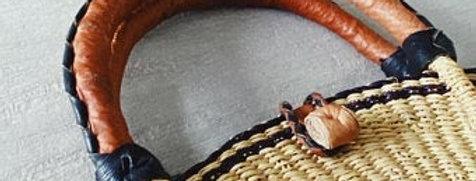 Bolga Style Straw Handbag