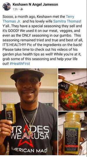 Keshawn tips on T's Seasoning