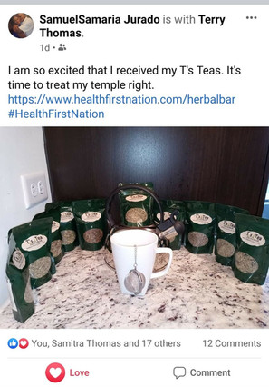 Excited about T's Herbal Tea