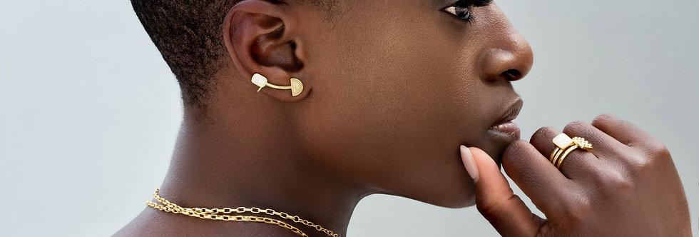 Telsom Quartz Crawler Earring
