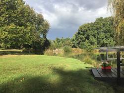 Jardin autour de l'étang