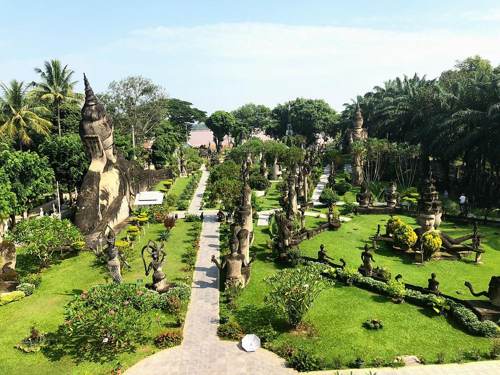 buddha parc vientiane laos