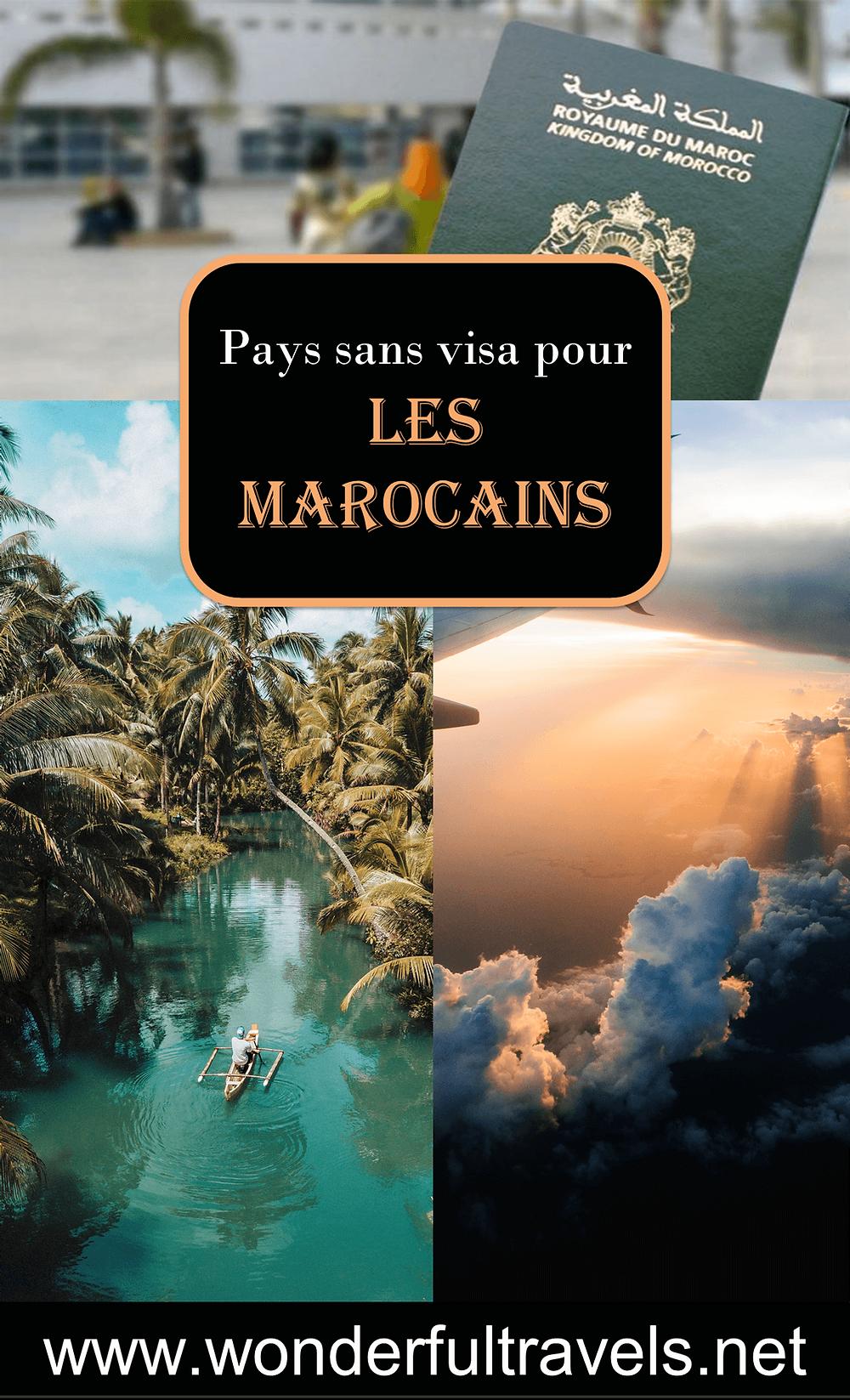 pays sans visa pour les marocains epingle blog voyage pinterest classement passeport marocain