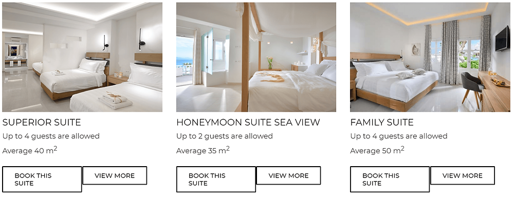 hotel petinos mykonos centre pas cher piscine luxe
