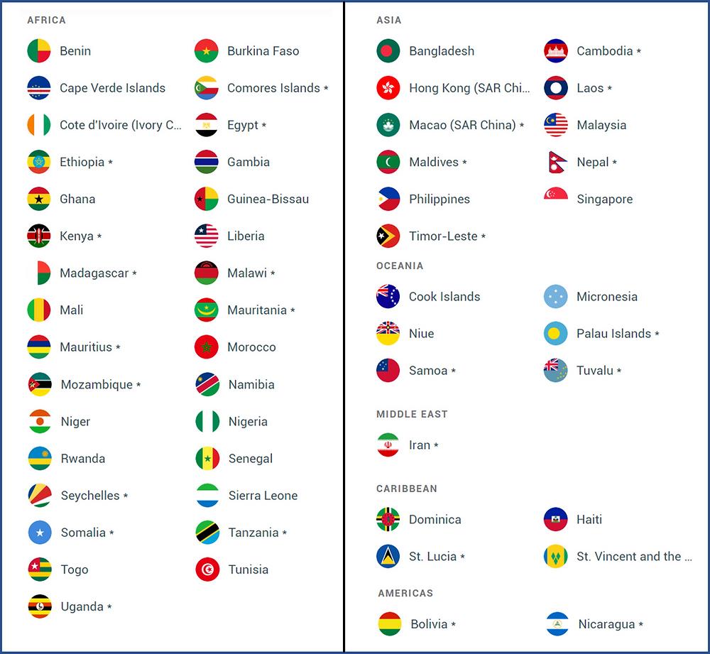 liste des pays sans visa pour les guinéens - pays sans visa pour les togolais