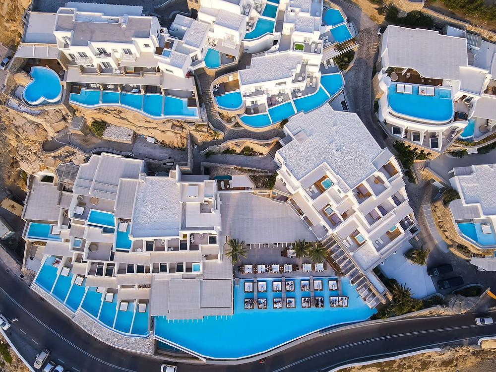 hotel pas cher à mykonos avec piscine, hotel de charme à mykonos, les 10 meilleurs hôtels à mykonos