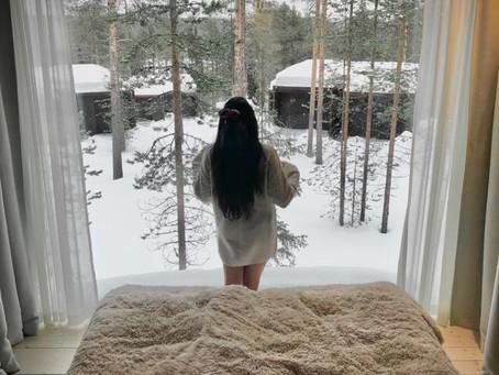 Se réveiller sur une vue panoramique en Laponie