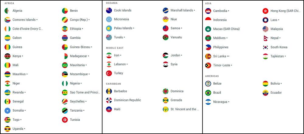 pays sans visa pour les marocains - free visa countries for moroccans