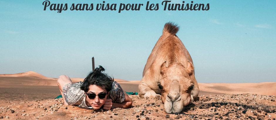 Les pays accessibles sans visa pour les Tunisiens