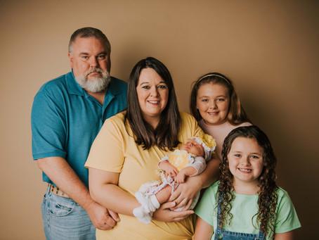 Baby Lyons First Portraits   Hazard, KY   Kentucky Newborn Photographer