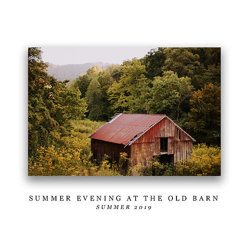 Summer Evening at the Old Barn Print