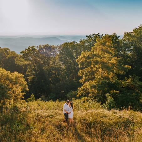 Summer Golden Hour Engagement on Pine Mountain   Whitesburg, KY   Kentucky Wedding Photographer