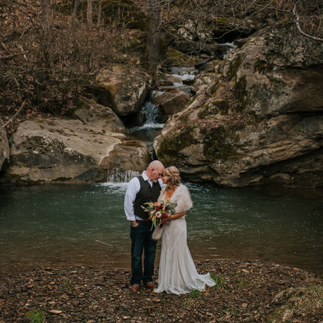 Romantic Winter Elopement at The Perfect Place | Hazard, KY | Kentucky Wedding Photographer
