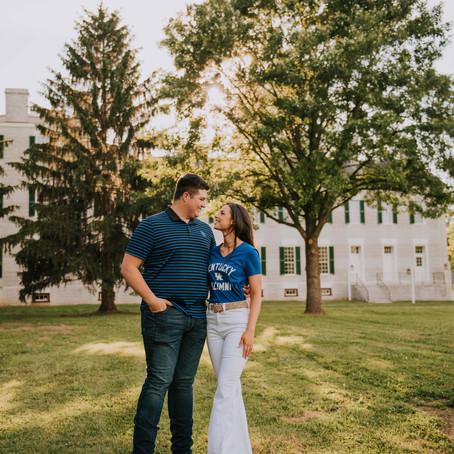 Sweet Summer Engagement at Shaker Village   Jamie + Michael   Kentucky Wedding Photographer