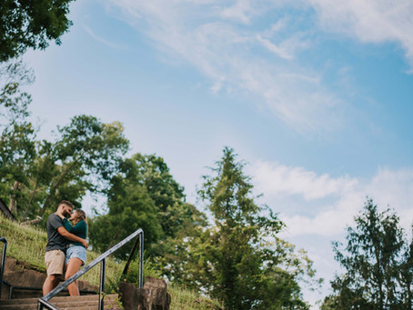 Engagement at Alice Llyod College   Kasey + Dreac   Kentucky Wedding Photographer