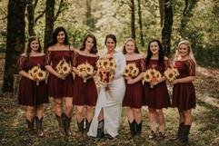 Megan + her bridesmaids