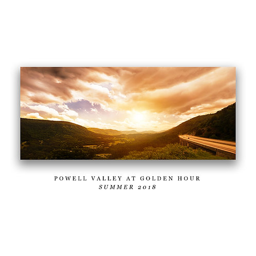 Powell Valley at Golden Hour Print